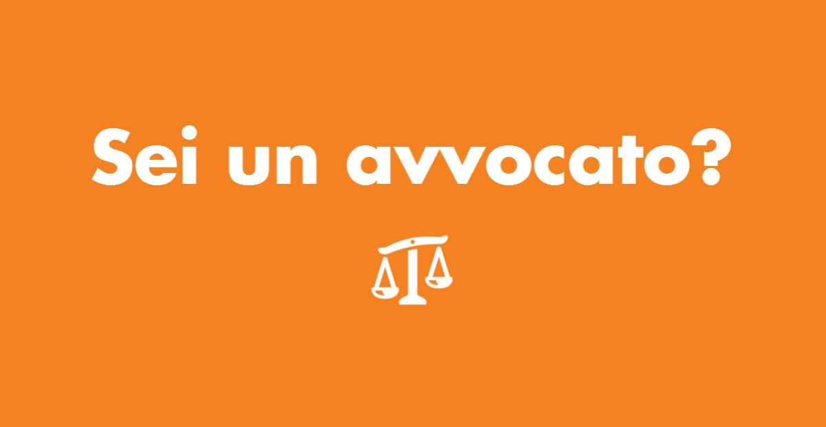 Sei un avvocato?